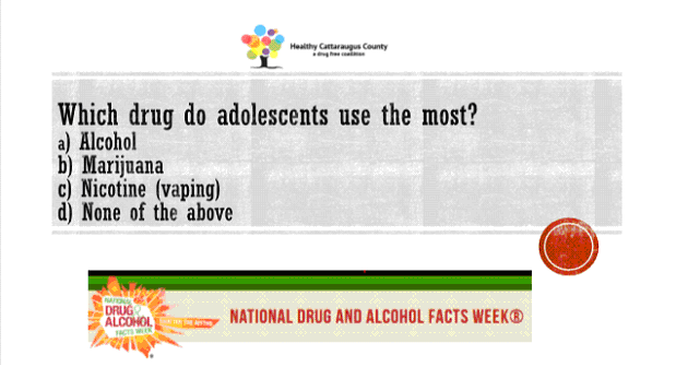 National Drug and Alcohol Facts Week: During National Drug and Alcohol Facts Week 2020 we presented questions like this on our social media sites for viewers to test their knowledge